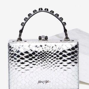 Nasty Gal Silver Handbag